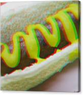 Hotdog - Use Red-cyan 3d Glasses Canvas Print