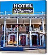 Hotel El Rancho Canvas Print