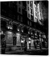 Hotel Metro, Nyc - Bw Canvas Print