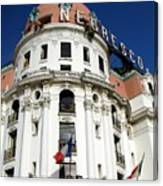Hotel Negresco In Nice Canvas Print