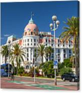 Hotel Negresco On English Promenade In Nice Canvas Print
