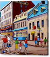 Hotel Nelson Old Montreal Canvas Print