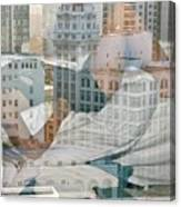 Hotel Phelan Reflection Canvas Print