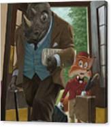 Hotel Rhino And Porter Fox Canvas Print