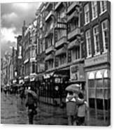 Hotel Row -- Amsterdam In November Canvas Print