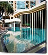 Hotel Swimming Pool Canvas Print