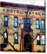 Hotel Wayne Bistro - Honesdale Pa Canvas Print