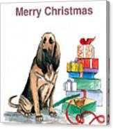 Hounddog Christmas Canvas Print