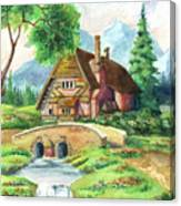 House Along The River Canvas Print