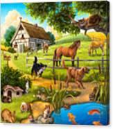 House Animals Canvas Print