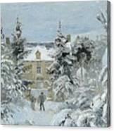 House At Montfoucault Canvas Print
