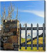 House Behind The Fence Canvas Print