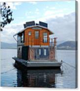 House-boat On The Huan River Canvas Print