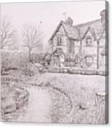 House By Lake Canvas Print