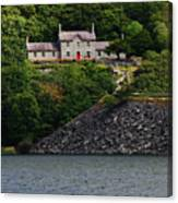 House By The Llyn Peris Canvas Print