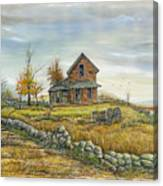 House By The Rock Wall Canvas Print