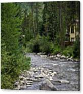 House By The Stream In Vail 1 Canvas Print