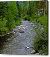 House By The Stream In Vail 2 Canvas Print