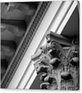House Column Black And White Canvas Print
