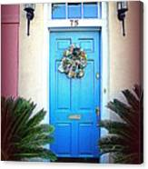 House Door 6 In Charleston Sc  Canvas Print