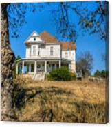 House Framed By Tree Canvas Print
