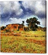 House In A Desert Land Canvas Print