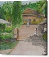 House In Goa Canvas Print