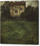 House In Storm Canvas Print