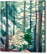 House In The Redwoods Canvas Print