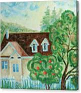 House In The Village Canvas Print