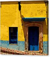 House In Yellow And Blue Canvas Print