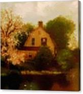 House Near The River. L B Canvas Print
