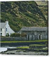 House Near Valencia Island Ireland Canvas Print