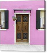 House Of Venice - Pink Canvas Print