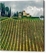 House On A Hill-tuscany Canvas Print
