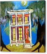 House On Esplanade  Canvas Print