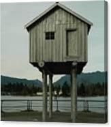 House On Stilts, Coal Harbour Vancouver Canvas Print