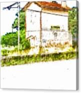House On The Railway Canvas Print