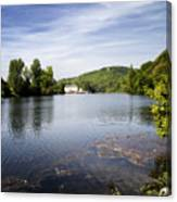 House On The River Bend - South West France Canvas Print