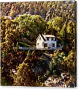 House On The Side Of The Mountain Canvas Print