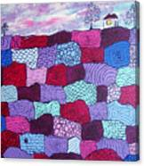 House On Top Of Patchwork Hill Canvas Print