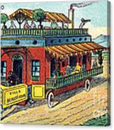 House On Wheels, 1900s French Postcard Canvas Print