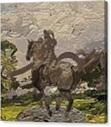 House Statue In The Field Canvas Print