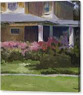 House With Azaleas Canvas Print