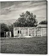 House With Outbuildings Canvas Print