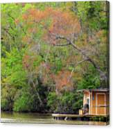 Houseboat On The Apalachicola River Canvas Print