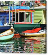 Houseboats 4 - Lake Union - Seattle Canvas Print