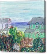 Houses At Whalehead Beach Canvas Print