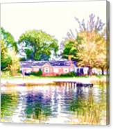 Houses By The Lake 1 Canvas Print