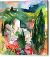 Houses In Montepulciano In Tuscany 01 Canvas Print